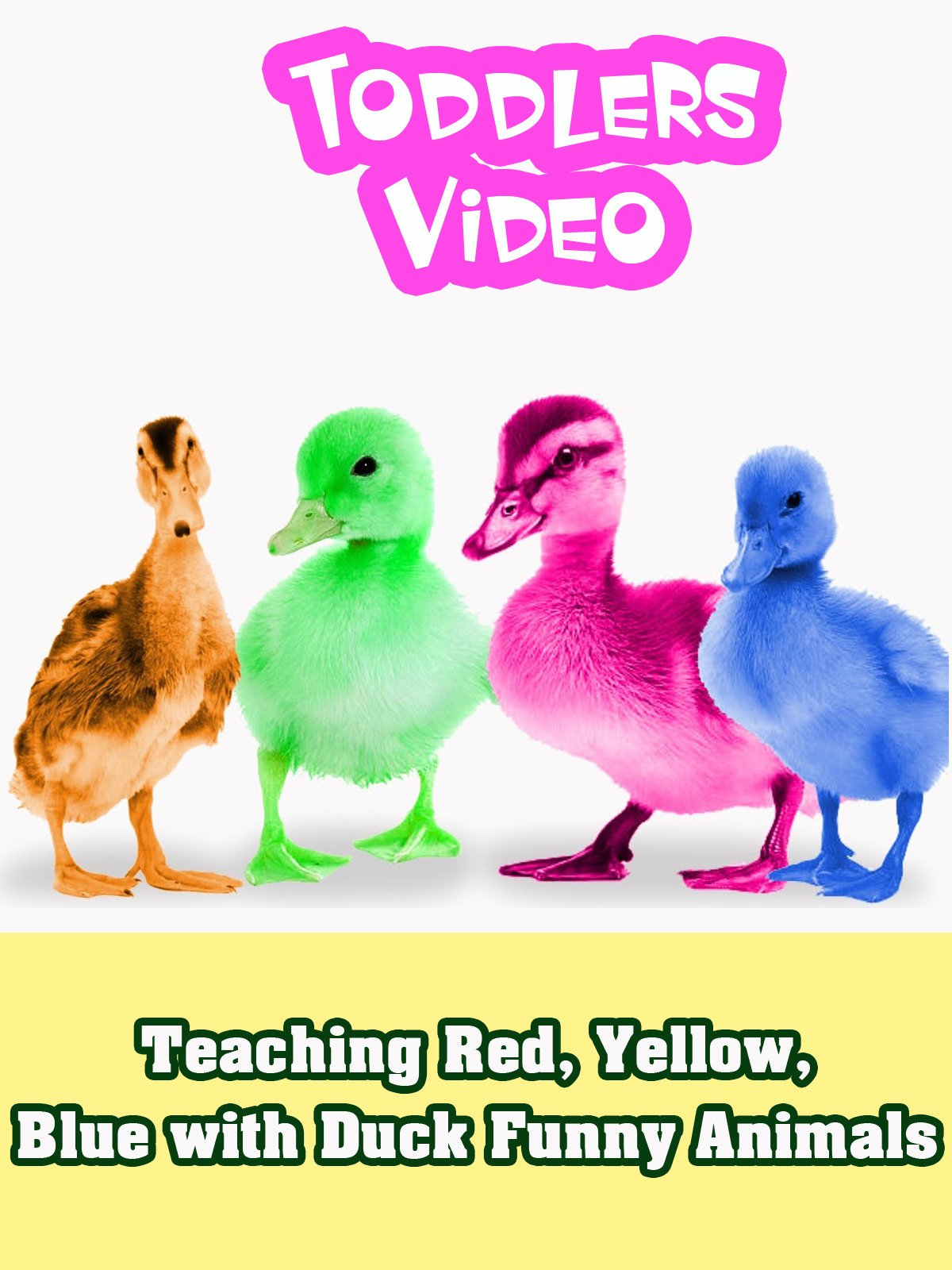 Teaching Red, Yellow, Blue with Duck Funny Animals