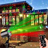 Christmas Laser Lights Outdoor Projector, Laser Lights Christmas Projector with Wireless Remote, Waterproof Laser Projector Decorating for Christmas Xmas Party Holiday Stage Landscape Patio Garden (Color: Black)