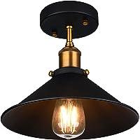 Oak Leaf Industrial Ceiling 1-Light Pendant (Black)