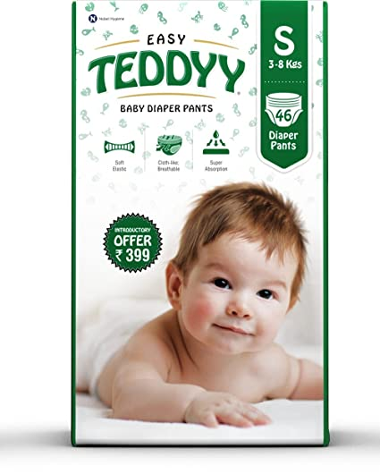 Teddyy Baby Easy Small Diaper Pants (Pack of 46)
