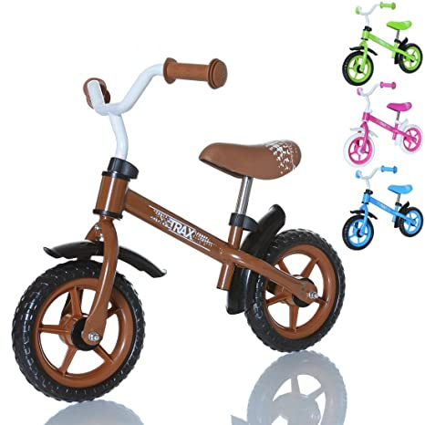 LCP Kids TRAX Draisienne enfant - velo de marche sans pedale Bicycle de balance de 2 ans, couleur: marron