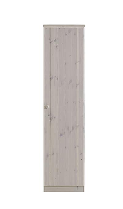 Steens 3451170013000F Ribe Kleiderschrank 1-turig, Kiefer massiv 202 x 51 x 60 cm, weiß