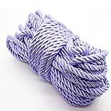 U Pick 10yds 5mm Decorative Twisted Satin Polyester Twine Cord Rope String Thread Shiny Cord Choker Thread (03:Purple) (Color: 03:Purple, Tamaño: 5mm)