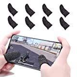GuangTouL 8 Pcs Mobile Game Finger Sleeve Controller Finger Sleeve Compatible with PUBG Mobile Game Controller Sensitive Shoot and Aim Keys for Android iOS Joysticks PUBG Knives Out Rules of Survival