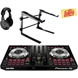 Pioneer DDJ-SB3 DJ Controller for Serato DJ Lite Bundle with Stand, Headphones, and Austin Bazaar Polishing Cloth (Color: Bundle w/ Stand, Tamaño: DDJ-SB3)