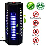 PrettyQueen Bug Zapper Outdoor Indoor Electronic Mosquito Killer Lamp Pest Bug Killer Trap Night Light UV LED Insect Fly Killer For Home Garden Camping Travel Black (Onesize, Black) (Color: Black, Tamaño: Onesize)