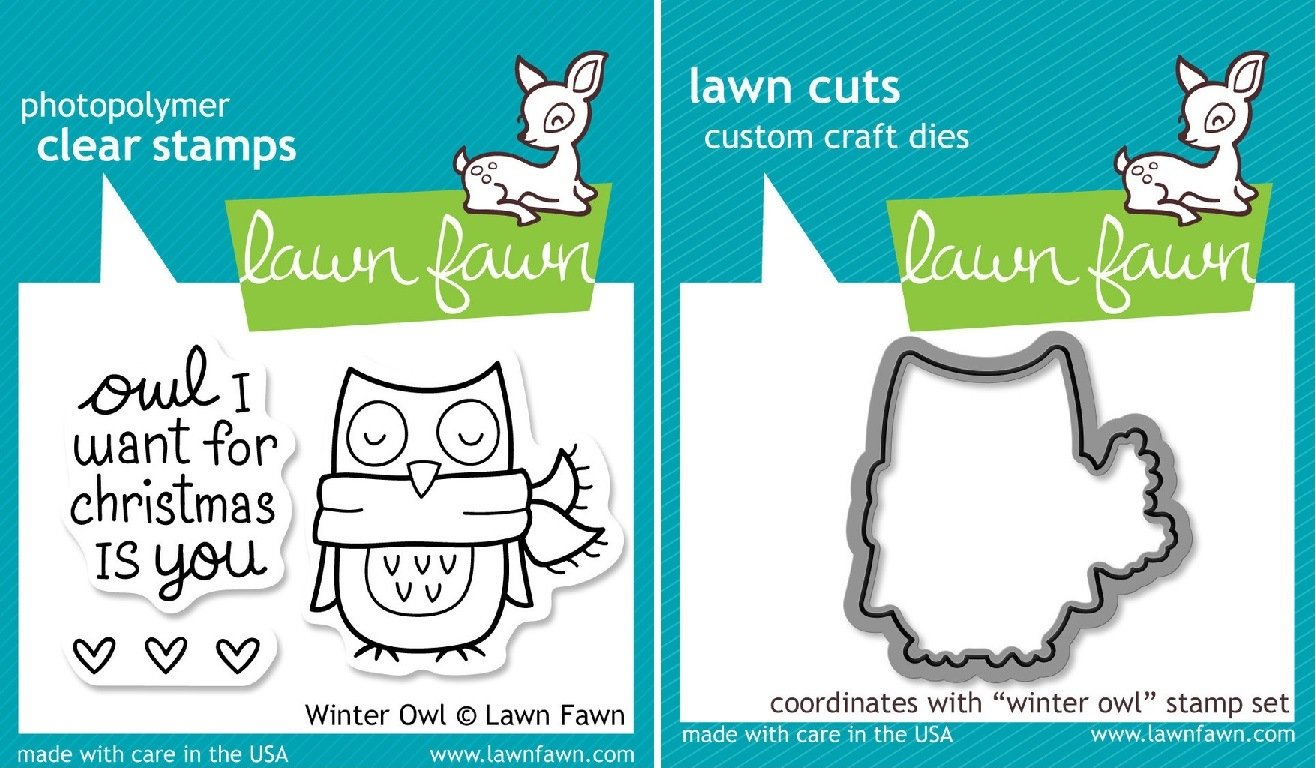 Lawn Fawn Winter Owl Clear Stamp and Die Set - Includes One Each of LF434 (Stamp) & LF580 (Die) - Custom Set ambulance doctor nurse vintage custom picture logo luxury wax seal sealing stamp brass peacock metal handle gift set