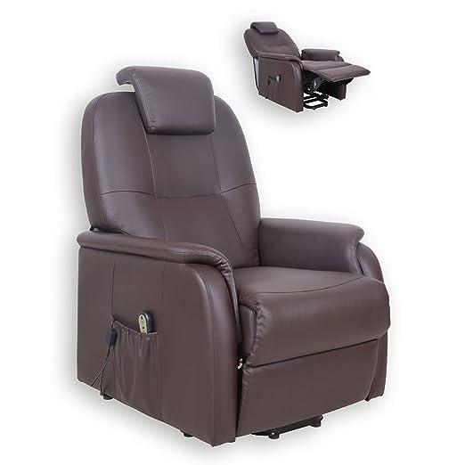ROLLER TV-Sessel MIAMI - dunkelbraun - mit Aufstehhilfe
