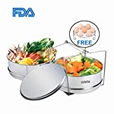 Insert Pan for Instant Pot Accessories, Cenow Instant Pot in Pot Accessories Steamer Basket Set with Egg Steamer Rack Stand, Steamer Insert Fits Instant Pot 6 Qt, 8 Quart Pressure Cooker Accessories (Color: Silver)