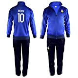 Fan Kitbag Argentina Messi #10 Kids Soccer Tracksuit All Youth Sizes ? Messi #10 Soccer Track Jacket Top ? Kids Soccer Track Pants ? GIFT READY Packaging ? (YM 8-10 Years Old, Messi #10) (Tamaño: YM 8-10 Years Old)