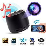 Spy Hidden Camera 1080p WIFI, Night Vision, Bluetooth Speaker Model,128 Gigas Capacity, Motion Detection Real-Time View, Online Monitoring Home Security Nanny Cam, iPhone/Android/PC Compatible (Color: Black)