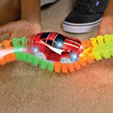 Ontel Magic Tracks Xtreme with Race Car and 10 ft of Flexible, Bendable Glow in the Dark Racetrack, As Seen on TV (Color: Limited Edition)