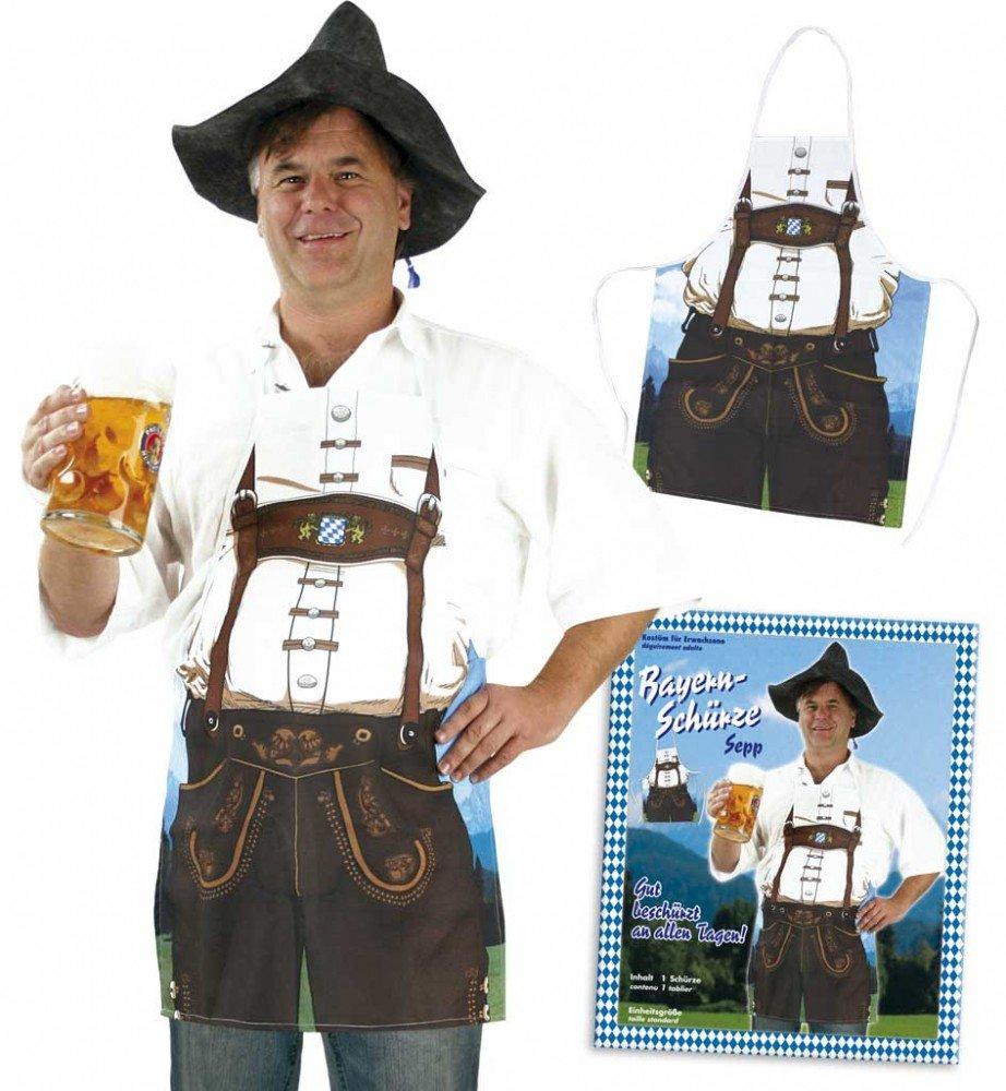 Bayern Schürze Oktoberfest mit Lederhosen