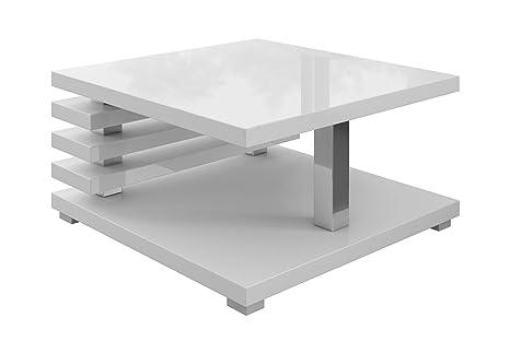 Tavolino da salotto Oslo 60 x 60 cm (Bianco lucido)