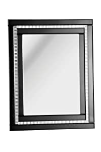 Premier Housewares Deco Wall Mirror   70 x 90 cm   Black       Customer review and more information