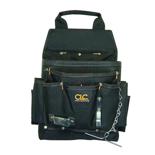 CLC Custom Leathercraft 5505 Professional Electrician's Tool Pouch, Ballistic Poly, 12Pocket (Color: Black, Tamaño: 12-POCKET)