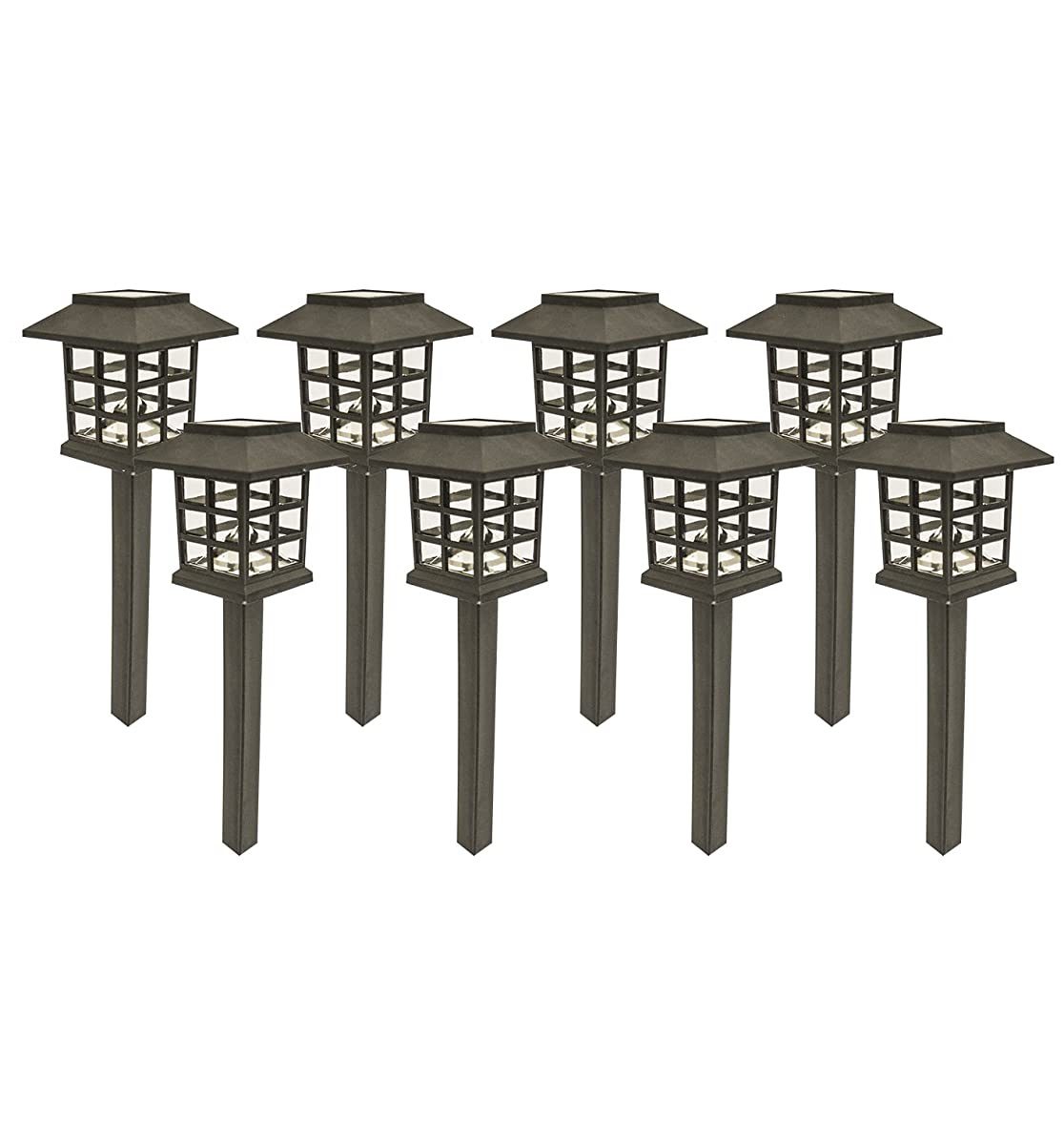Sogrand 8pcs-Pack,Solar Lights Outdoor,Solar Light,Landscape Lighting,Solar Pathway Lights,for Lawn,Patio,Yard,Walkway,Driveway,Pathway,Garden,Landscape