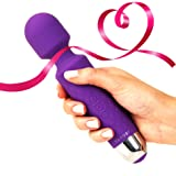 Cordless Wand Massager by Yarosi - Strongest Therapeutic Vibrating Power - Best Rated for Travel Gift - Magic Stress Away - Perfect for Muscle Aches and Personal Sports Recovery - USB - Mini - Purple (Color: Purple, Tamaño: 1 Pack)