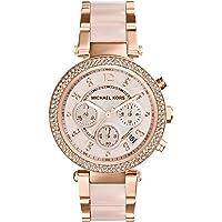 Michael Kors MK5896 Rose Gold Dial Analogue Display Womens Quartz Watch