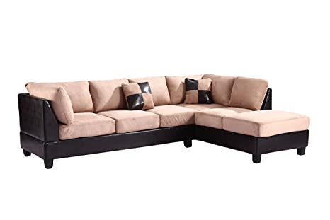 Glory Furniture G295-SC Sectional Sofa, Chocolate, 2 boxes
