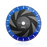 SHDIATOOL 9 Inch Metal Cutting Diamond Blade All-Purpose Diamond Cut-off Wheel Marble Aluminum Pipe Iron Hard Plastic PVC and more (Color: Black and Blue, Tamaño: 9 Inch)