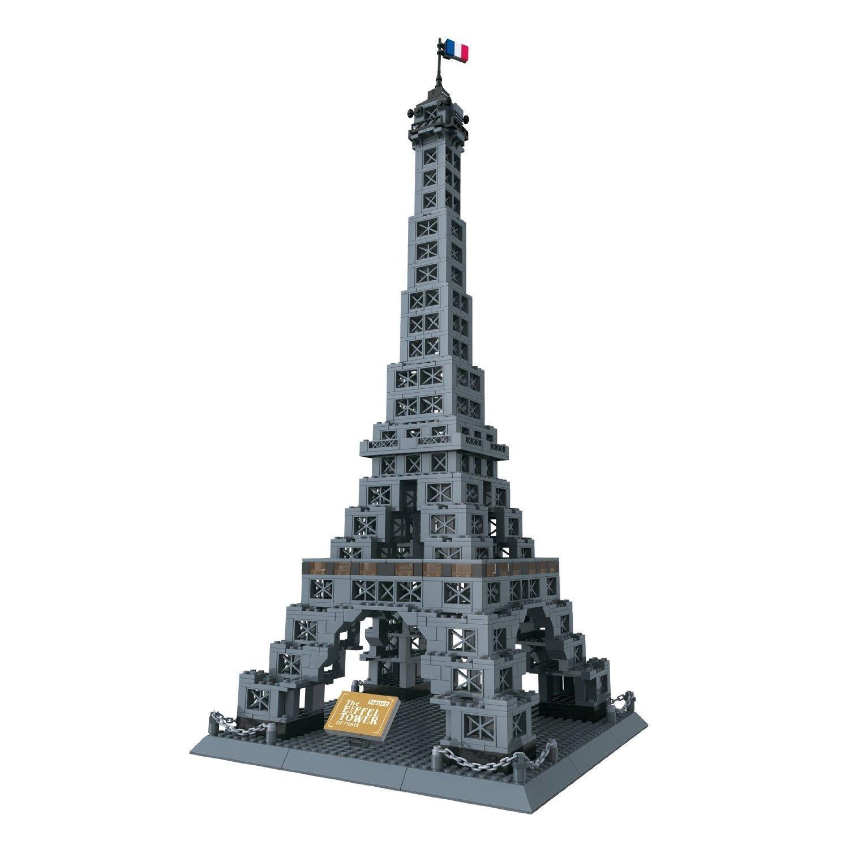 Brigamo 5368015 – Bausteine Eiffelturm von Paris, 978 Teile, knapp 70 cm hoch, kompatibel mit anderen Bausteinen günstig online kaufen