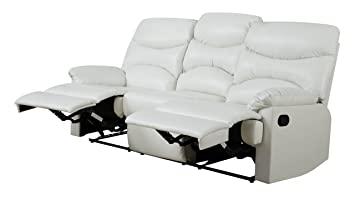 Glory Furniture G459-RS Reclining Sofa, White