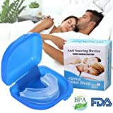 Anti Snoring Devices Snoring Solution Mouthpiece FDA-Approved Stop Snore Stopper (White)
