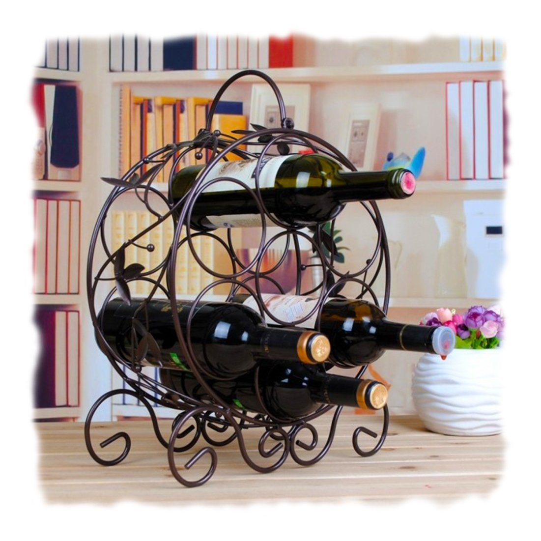 Cool Kitchen Stuff: Cool Kitchen Stuff: Decorative Metal Wine Racks For Your
