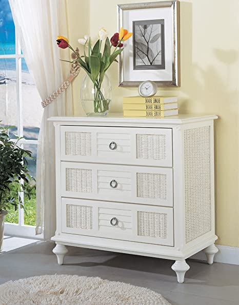 Aruba 3 Drawer Rattan Chest