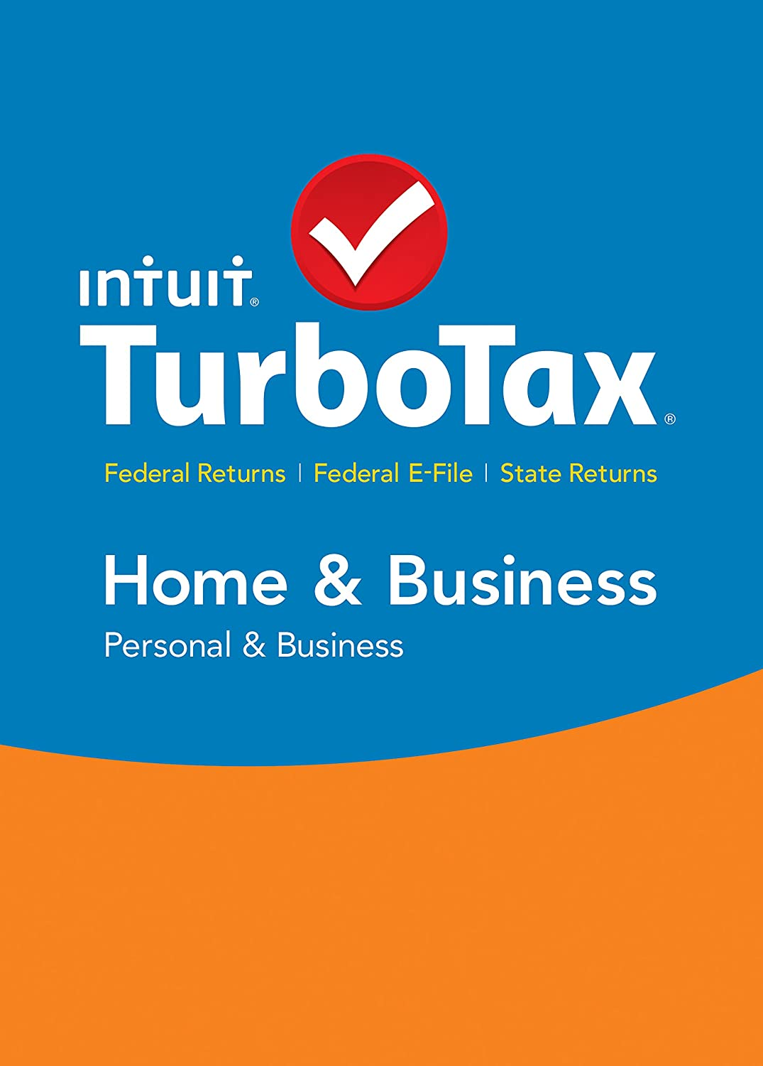 TurboTax Home & Business 2015 Federal + State Taxes + Fed Efile Tax Preparation Software - PC Download