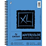Canson XL Series Watercolor Textured Pad, Use with Paint Pencil Ink Charcoal Pastel and Acrylic, Side Wire Bound, 140 Pound, 7 x 10 Inch, 30 Sheets (Color: Original Version, Tamaño: 7