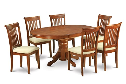East West Furniture AVPO5-SBR-W 5-Piece Dining Table Set