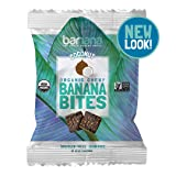 Organic Coconut Chewy Banana Bites - 1.4 Ounce (12 Count) - Delicious Barnana Potassium Rich Banana Snacks - Lunch Dinner Sports Hiking Natural Snack - Whole 30, Paleo, Vegan