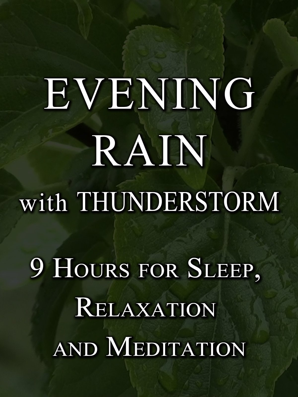 Evening Rain with Thunderstorm, 9 hours for sleep, relaxation and meditation on Amazon Prime Instant Video UK