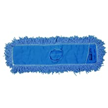 Rubbermaid Commercial FGJ25300BL00 Twisted Loop Dust Mop, Blend 24-inch, Blue