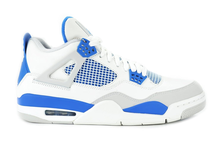 Air Jordan 4 IV Retro Military 4's White/Military Blue/Neutral Grey Men's Basketball Shoes 308497-105 аккордеоны weltmeister s topas iv 37 96 iv 11 5 bk