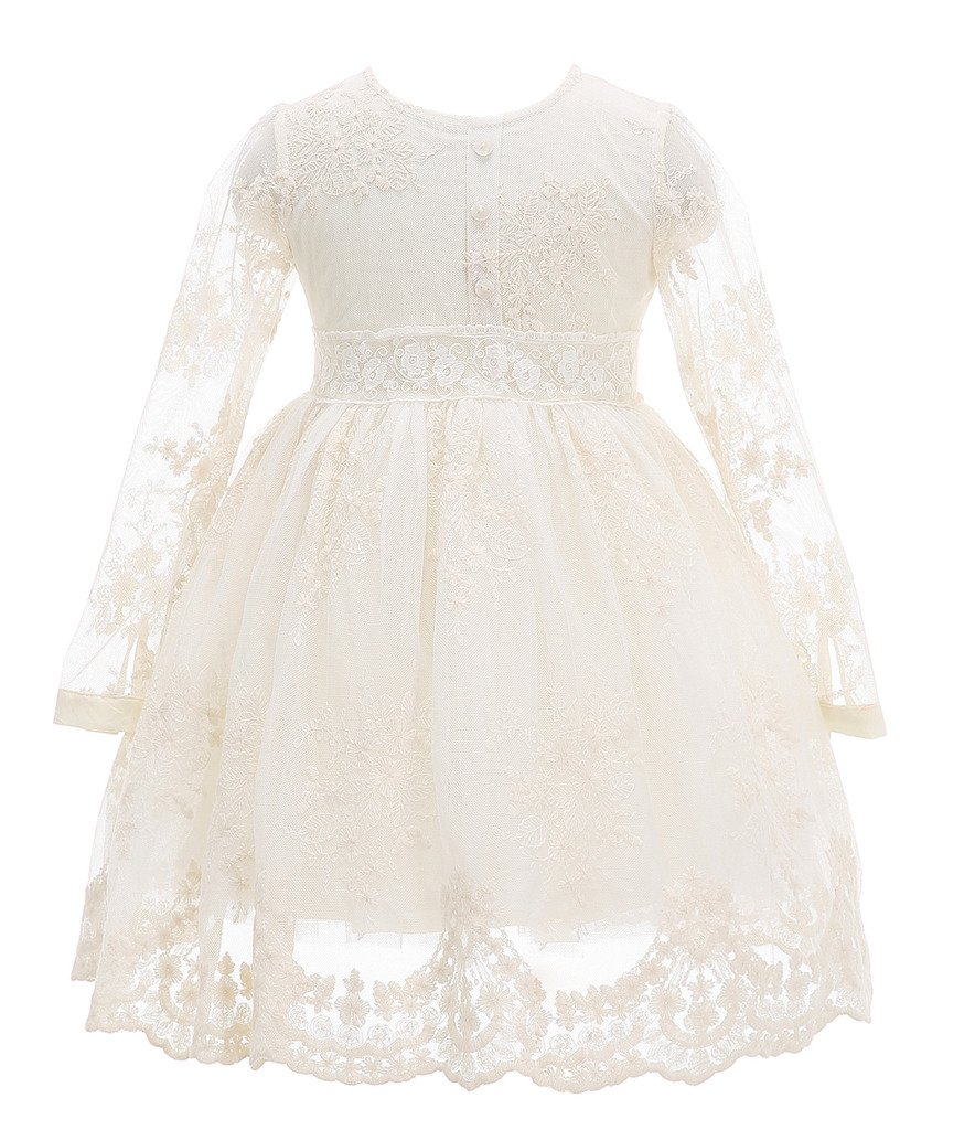 Bow Dream Flower Girl Dress Vintage Lace 0