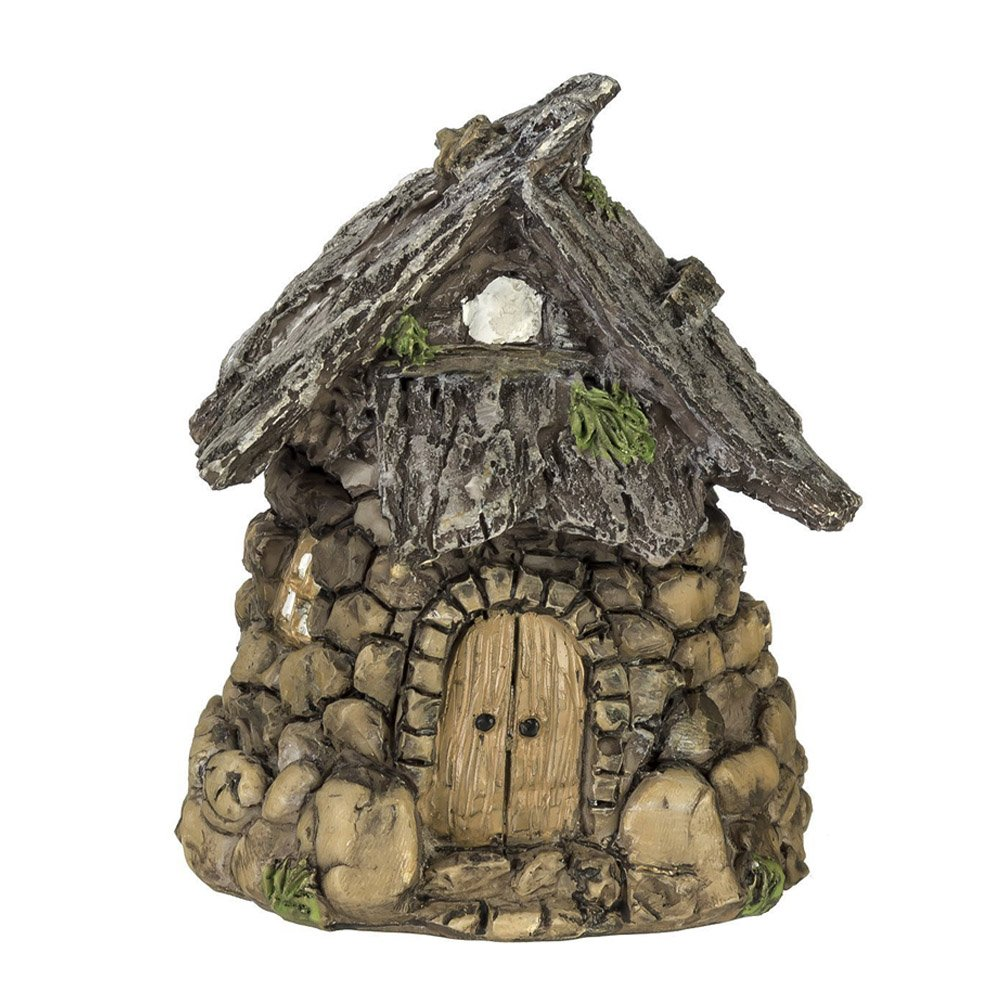 Miniature Enchanted Cottage Gnome Hobbit Fairy (Stone House)