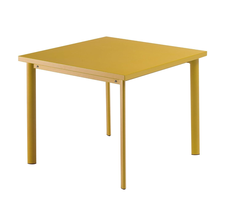 Emu 303066800 Star Tisch 306, 90 x 90 cm, pulverbeschichteter Stahl, orange