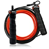 5BILLION Speed Jump Rope - Black, Bending Adjustable - Workout for Double Unders, WOD, Outdoor, MMA & Boxing Training (Color: bend-black)