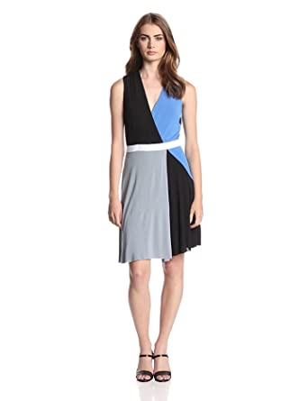 Bailey 44 Women's Color Field Colorblock Fit and Flare Dress, Multi, X-Small