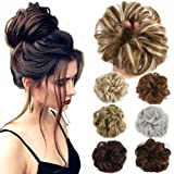 Lelinta Hair Bun Extensions Wavy Curly Messy Hair Extensions Donut Hair Chignons Hair Piece Wig Hairpiece (Color: Dark Brown, Tamaño: onesize)