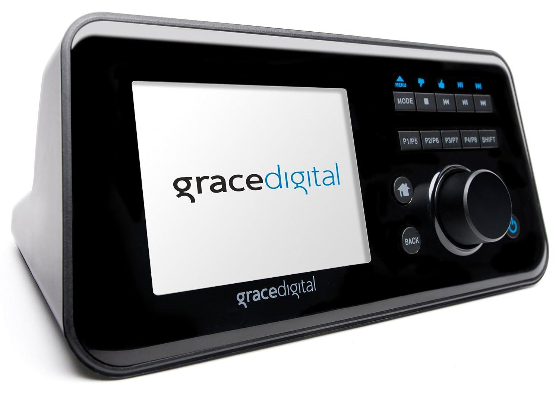 Grace Digital GDI-IRCA700 Wireless Internet Radio Adapter with 3.5-Inch Color Display Featuring Pandora, NPR, and SiriusXM (Black)