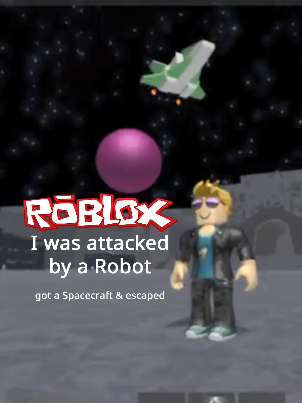 Clip: Roblox: I was attacked by a Robot, got a Spacecraft & escaped