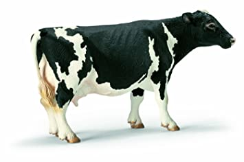 Schleich シュライヒ 動物フィギュア ホルスタイン牛 (メス) 13633