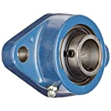 SKF FYT 1. TF Ball Bearing Flange Unit, 2 Bolts, Setscrew Locking, Regreasable, Contact Seal, Cast Iron, Inch, 1