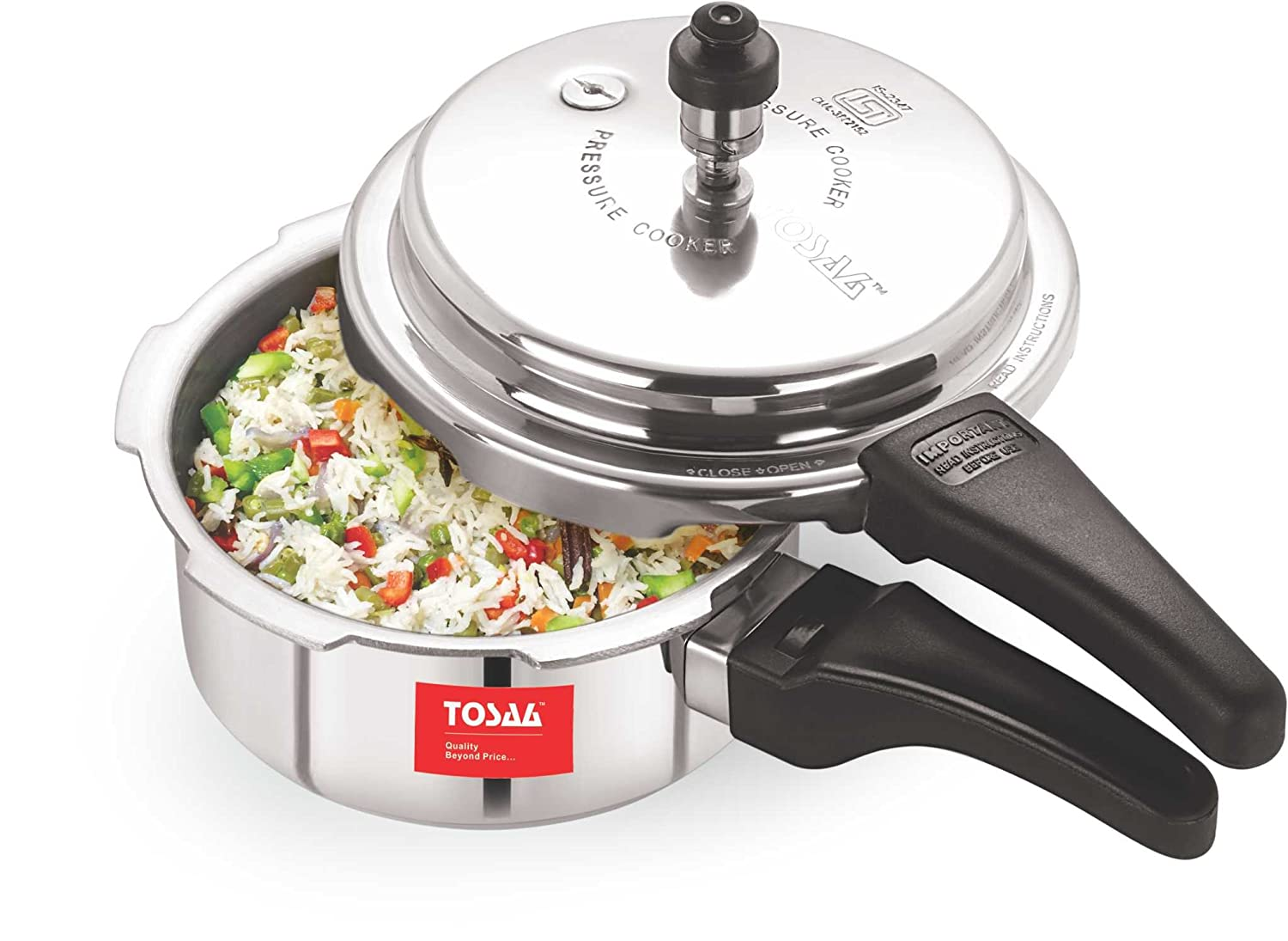 Upto 40% off On Top Brands, Kitchen & Dining By Amazon | Tosaa Ultra Range Aluminium Pressure Cooker, 2 Litres, Silver @ Rs.561