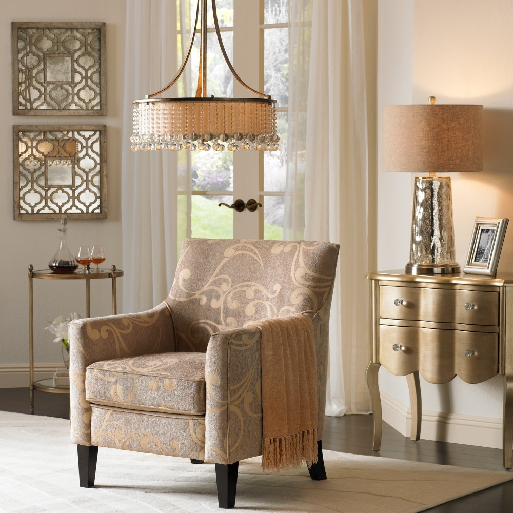 blair taupe and cream swirl armchair