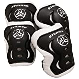 Strider - Knee and Elbow Pad Set for Safe Riding, Black (Color: Black, Tamaño: One Size)